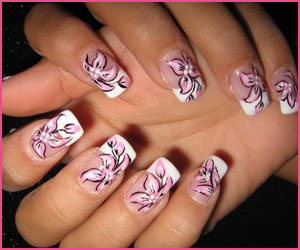 french-with-flower-nail-art
